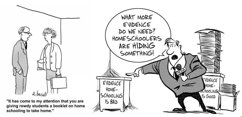 Homeschooling Political Cartoon Strip