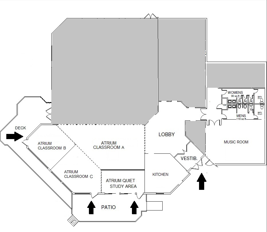 UUCF Floor Plan- Sanctuary Bldg- Compass 2015 Q1 FINAL